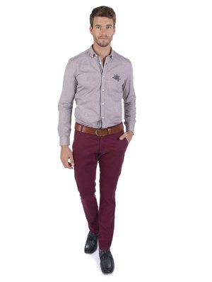 Рубашка светло-бордовая | 3703135