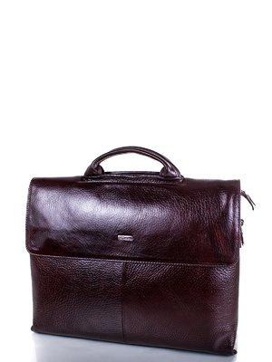 Портфель коричневий з бордовим відтінком | 3969362