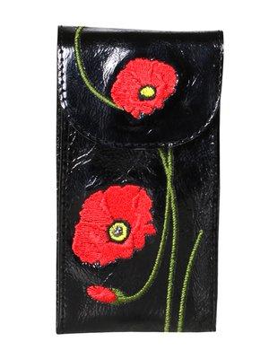 Ключница черная с вышивкой | 3997140