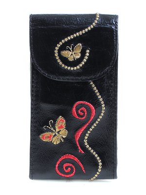 Ключница черная с вышивкой | 3997141