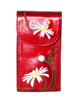 Ключница красная с вышивкой | 3997146