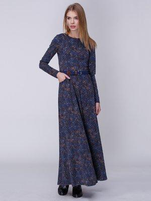 Платье синее с принтом | 3996272