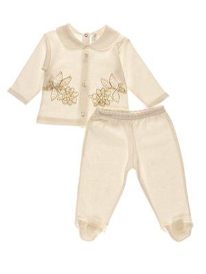 Комплект ошатний: повзунки і сорочечка | 3989418