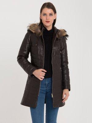 Пальто коричневе | 3993085