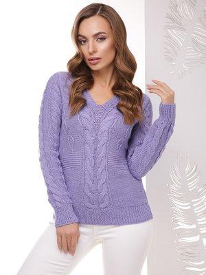 Пуловер фиолетовый | 3999819