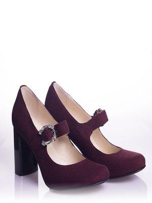 Туфлі бордові | 4000535