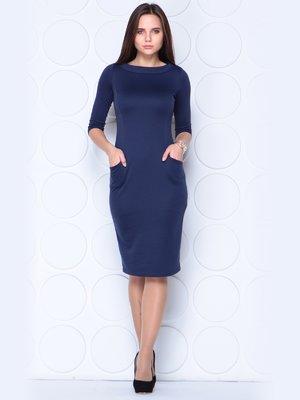 Платье темно-синее | 3997438