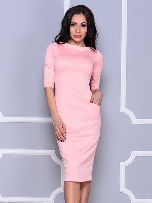 Платье персиковое | 3997439