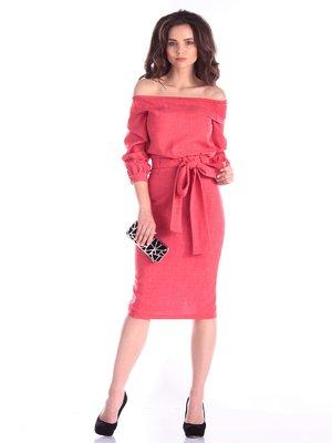 Сукня кольору червоний корал | 3997729
