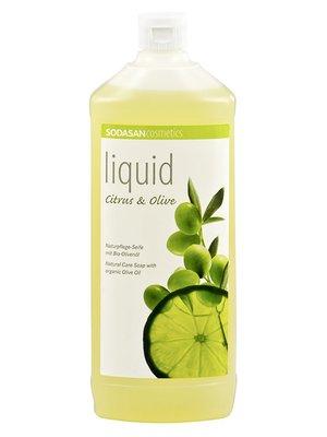Мыло органическоеCitrus-Olive жидкое, бактерицидное, с цитрусовым и оливковым маслами (1 л) | 4002205