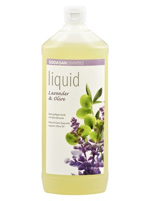 Мыло органическоеLavender-Olive жидкое, успокаивающее, с лавандовым и оливковым маслами (1 л) | 4002207