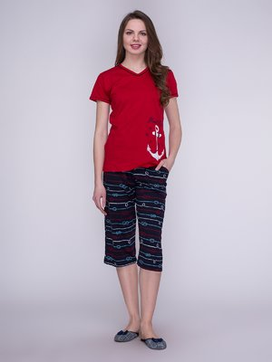 Пижама: футболка и бриджи | 3996224