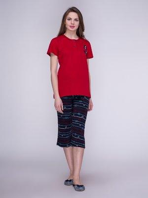 Пижама: футболка и бриджи | 3996227