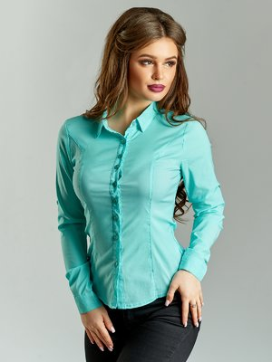Сорочка ментолового кольору | 4004153
