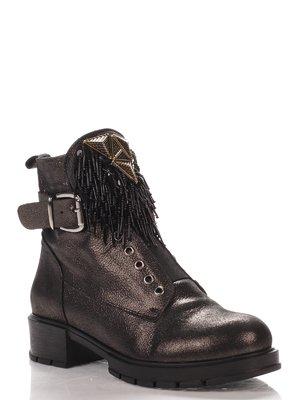 Ботинки черно-серебристые   4000152