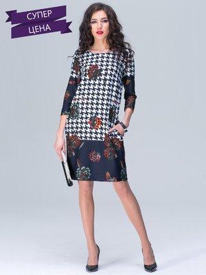 Платье комбинированной расцветки | 2138042