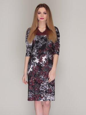 Сукня сіра в принт | 4009679