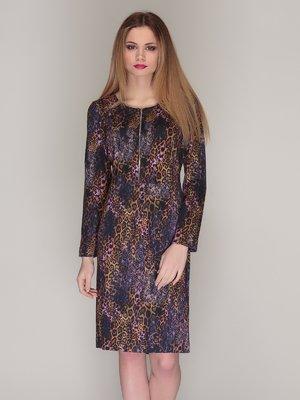 Сукня фіолетова в принт | 4009682