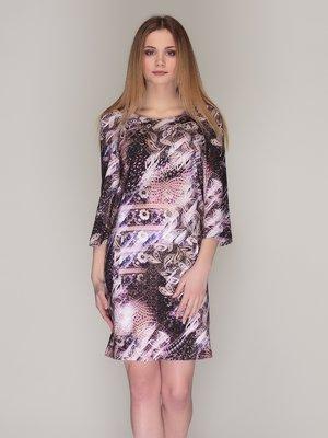 Сукня фіолетова в принт | 4009785