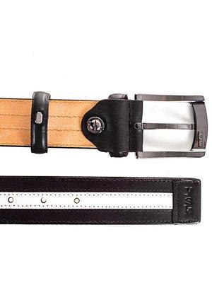 Ремінь чорно-білий (115 см) | 4016035