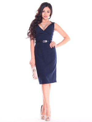 Сукня-сарафан темно-синя | 4007252