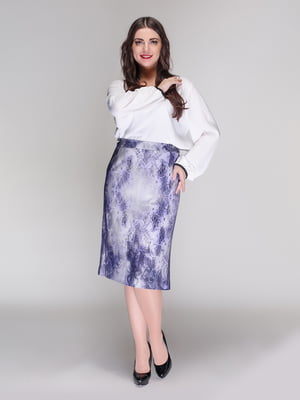 Спідниця сіро-фіолетова | 4009807