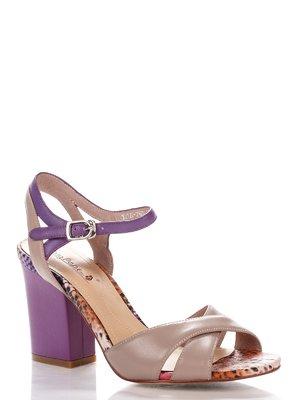 Босоніжки бежево-фіолетові | 4018035