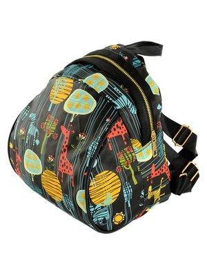 Рюкзак черный в принт | 4023622