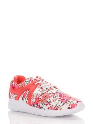 Кроссовки двухцветные с цветочным принтом | 1899503