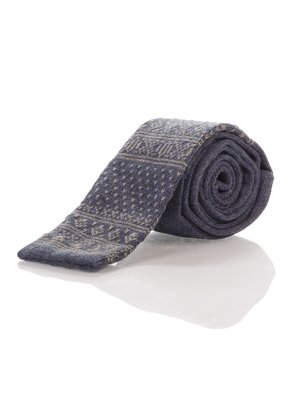 Краватка синя з орнаментом | 1259760