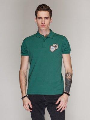 Футболка-поло зеленая | 3009539