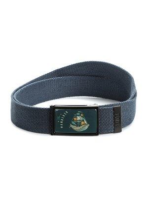 Ремень-стропа синий с принтом | 4034371