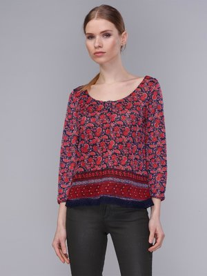 Блуза в разноцветный принт | 2991938