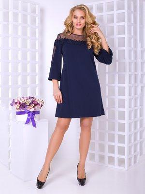 Платье темно-синее   4038219