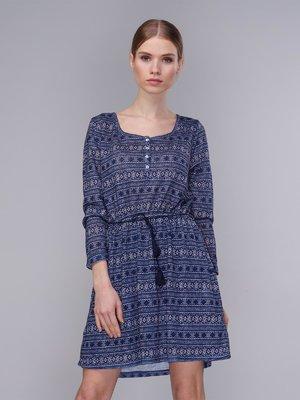 Сукня синя в принт | 2992521