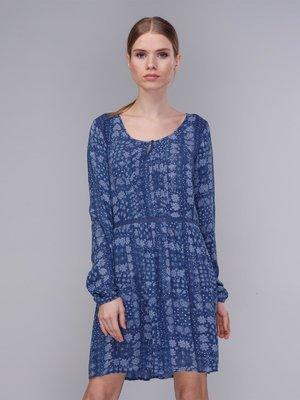Сукня синя в орнамент | 2992439