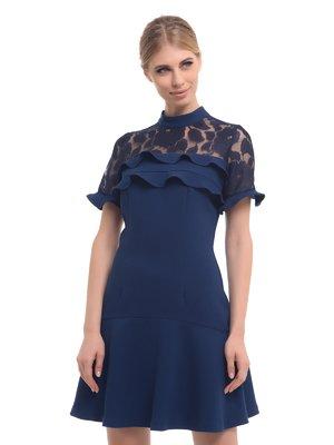 Платье темно-синее | 3955657