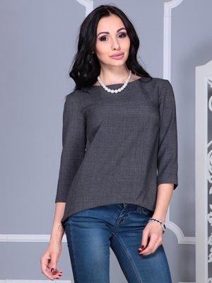 Блуза графітового кольору | 4028108