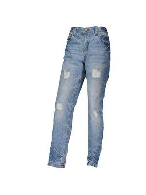 Джинси блакитні з ефектом потертих і рваних | 4043575