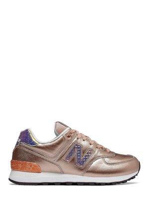 Кроссовки разноцветные New Balance 574 Glitter | 4042543