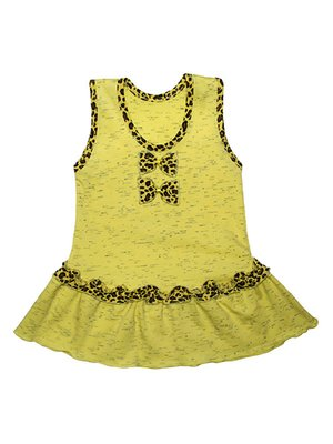 Сарафан желтый с контрастной отделкой   4043541