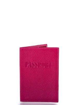Обкладинка для паспорта малинового кольору | 4033359