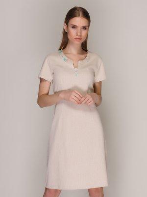 Платье светло-бежевое | 371053