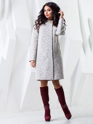 Пальто белое меланжевое | 4052293