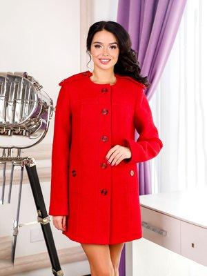 Пальто красное   4052365