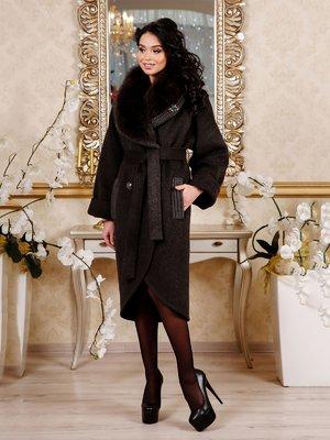 Пальто темно-коричневое | 4052436