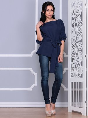 Блуза темно-синяя | 4028055