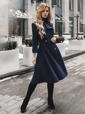 Пальто синее | 4053561