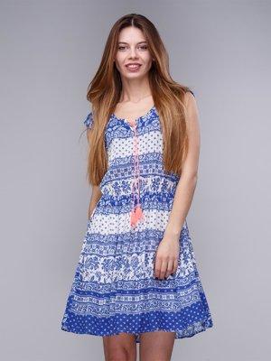 Платье голубое в принт   2992438