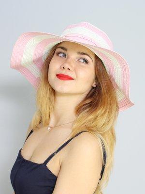 Капелюх біло-рожевий | 3298285